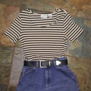 Super soft and stretchy striped shirt